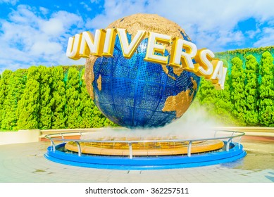 Osaka, Japan - December 1:  The theme park attractions based on the film industry at Universal Studios Theme Park in Osaka, Japan on December 1, 2015.
