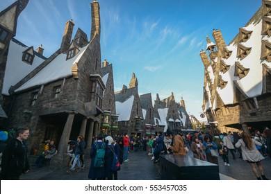 OSAKA, JAPAN DECEMBER 2,2016 : The Wizarding World of Harry Potter, Universal Studios Japan Universal Studios Japan is a theme park in Osaka