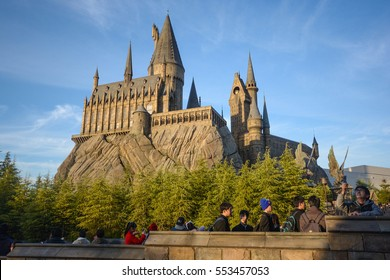 OSAKA, JAPAN DECEMBER 2,2016 : The Wizarding World of Harry Potter, Universal Studios Japan Universal Studios Japan is a theme park in Osaka