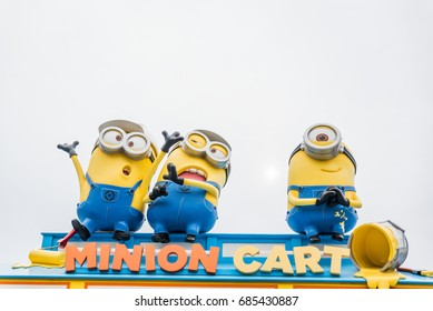 OSAKA, JAPAN - June 5, 2017 : Minions zone, located in Universal Studios JAPAN, Osaka, Japan. Minions are famous characters from Despicable Me animation.