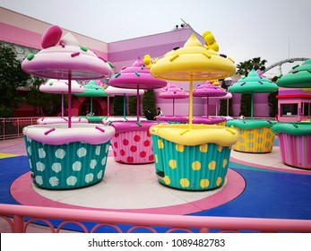 Osaka, Japan - May 13, 2017: Hello Kitty's Cupcake Dream in Universal studio theme park, Osaka, Japan