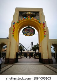Osaka, Japan - May 13, 2017: Universal studio Japan gate, Universal studio theme park, Osaka, Japan