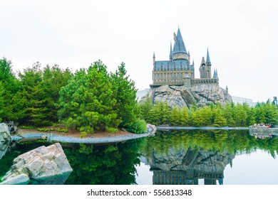 Osaka, Japan - NOV 21, 2016: The Wizarding World of Harry Potter in Universal Studios Japan. Universal Studios Japan is a theme park in Osaka, Japan.