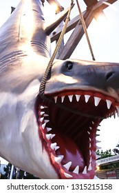 OSAKA, JAPAN - Nov 26, 2018 : Photo of the JAWS shark,one of the most famous attraction at Universal Studios Japan, Osaka, Japan.
