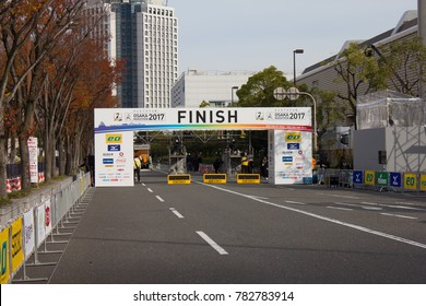 Osaka Japan November 2017: Osaka Marathon is a big marathon event in Japan attracting thousands of runners