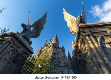 Osaka, Japan -November 22, 2016: The Wizarding World of Harry Potter in Universal Studios Japan. Universal Studios Japan is a theme park in Osaka, Japan.