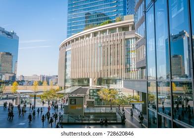 OSAKA, JAPAN - OCTOBER 26, 2015: JR Osaka station view to Grand Front Osaka, A massive commercial complex on the north side of Osaka Station.