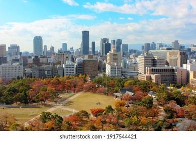 Osaka Skyline from Osaka Castle