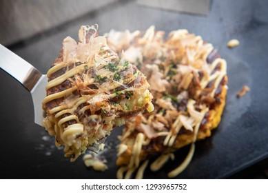 osaka style okonomiyaki, japanese pancake