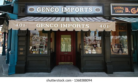 Osaka,Japan - 13 Apr, 2019:The movie set of Genco Pura Olive Oil Company appearing  in the movie scene of the movie Godfather Part2.