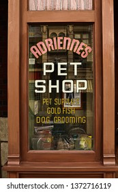 Osaka,Japan - 13 Apr, 2019:The movie set of ADRIENNES Pet Shop - J and M Tropical Fish pet store appearing  in the movie scene of the movie ROCKY.