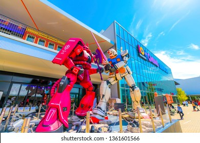Osaka,Japan - 5 April 2019 - EXPOCITY is a large theme park in the Expo Memorial Park in Suita City, Osaka Prefecture.