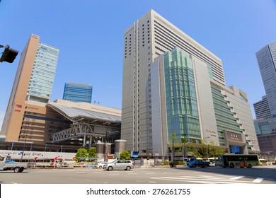 OSAKA,JAPAN - APRIL 21 : JR Osaka Station on April 21,2015 in Osaka, Japan. It is a major railway station in the Umeda district of Kita-ku, Osaka, Japan, operated by West Japan Railway Company.