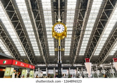 Osaka,Japan - December 15 2018:Osaka Station is a major railway station in Osaka's Umeda district that is served by a large number of local and interregional trains