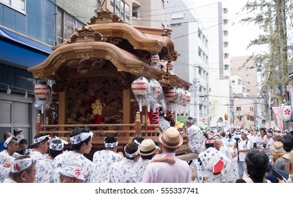 Osaka,Japan - July 25 ,2016:Tenjin Matsuri is the festival of the Tenmangu shrine.The festival started on July 24 and 25 every year.