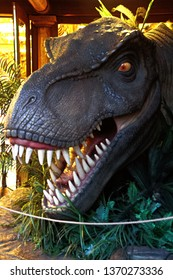 Osaka,Japan,Apr 13,2019:The figure of Tyrannosaurs Rex from Jurassic Park Movie at Universal Studios Japan.