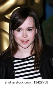 The Oscar Luncheon held at the Beverly Hilton Hotel, Los Angeles. Ellen Page