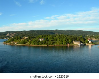 Oscarsborg fortress in the Oslofjord.