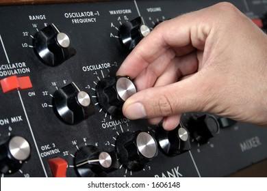 Oscillator on a vintage keyboard