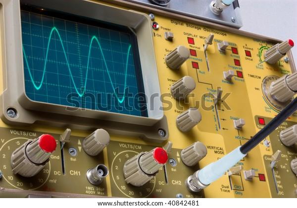 Oscilloscope Instrument Testing Electronics Components