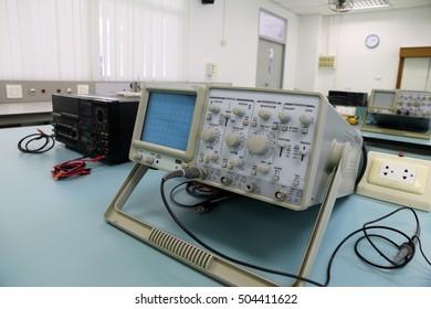 Oscilloscope in laboratory