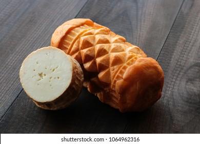oscypek, oscypki - traditional smoked cheese made of sheep milk in Tatra mountains in Poland, Zakopane