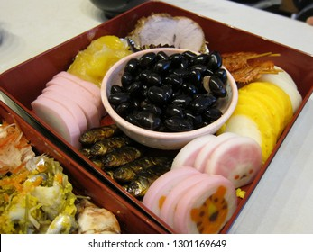 """""""Osechi Box"""" for new year special meal in Japan"""