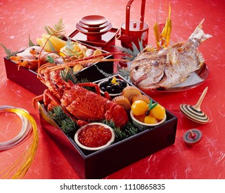 Osechi (japanese food of the New Year dishes tradition)