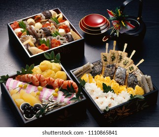 Osechi-ryori are Japanese New Year's dishes that are specially prepared to be eaten during the first three days of January