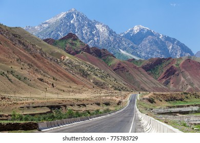 OSH, KYRGYZSTAN - CIRCA JUNE 2017: Road from Osh to Sara Tash in Kyrgyzstan circa June 2017 in Osh.