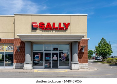 Oshawa, Ontario, Canada - July 01, 2019: Sally Beauty storefront in Oshawa, Ontario, Canada. Sally Beauty Holdings, Inc. is an American international specialty retailer and distributor of professional