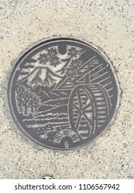 Oshino hakkai manhole at Japan