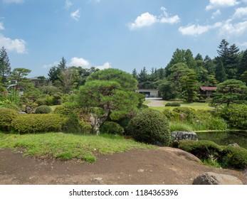 Oshino Hakkai village, Japan. Oshino Hakkai is a small village in the Fuji Five Lake region, located between Lake Kawaguchiko and Lake Yamanakako.