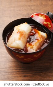 oshiruko, zenzai, sweet red bean soup
