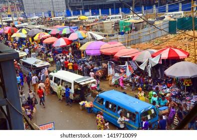 oshodi transport interchange in Lagos Nigeria under construction almost finish for lagosian and Nigerian uses. 7th June 2019