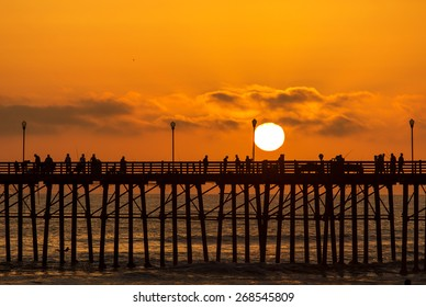 O-side Pier Sunset Silhouette