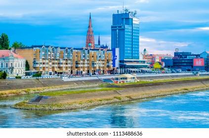 Osijek, Croatia - June 17, 2017: Town Osijek, Slavonia region