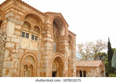 Osios Loukas Monastery, Distomo, Greece - Shutterstock ID 1878510175