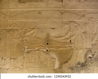 Osiris recovering is phallus and being embalmed - Osiris Chapel - Temple of Sethy the First at Abydos - Middle Egypt