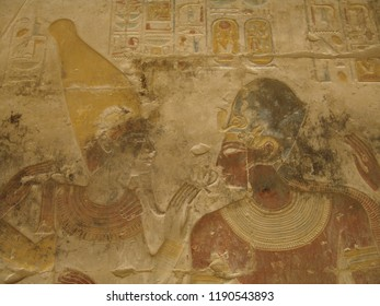 Osiris and Sethy - Osiris Chapel - Temple of Sethy the First at Abydos - Middle Egypt