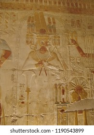 Osiris with tjeni-crown - Osiris Chapel - Temple of Sethy the First at Abydos - Middle Egypt