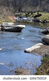 Oslava river between Oslava and Vanec, Moravia, Czech Republic - Shutterstock ID 1696750519