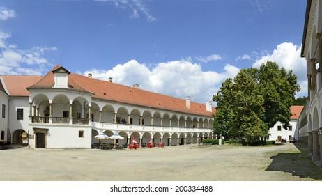 OSLAVANY, CZECH REPUBLIC - JUNE 18: The Renaissance Chateau of Oslavany on June 18, 2014. The city Oslavany is located on South Moravian Region in Czech republic.