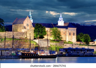 Oslo, Akershus at night