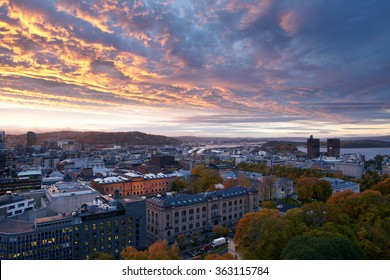 Oslo city in the morning