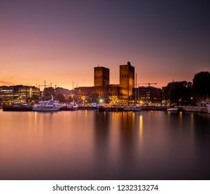 Oslo CityHall in Twilight