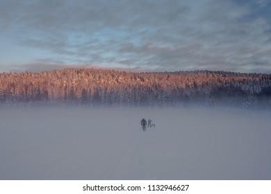 Oslo marka Norway frozen lake