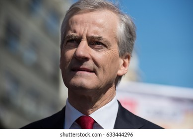 OSLO - MAY 1: Norwegian Labor Party leader Jonas Gahr Støre at a May Day rally in Oslo, Norway, May 1, 2017. Gahr Støre could become prime minister if his party wins elections in September.