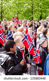 OSLO - MAY 17: Norwegian Constitution Day is the National Day of Norway and is an official national holiday observed on May 17 each year. Pictured on May 17, 2012