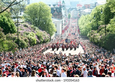 OSLO - MAY 17: Norwegian Constitution Day is the National Day of Norway and is an official national holiday observed on May 17 each year. Pictured on May 17, 2014